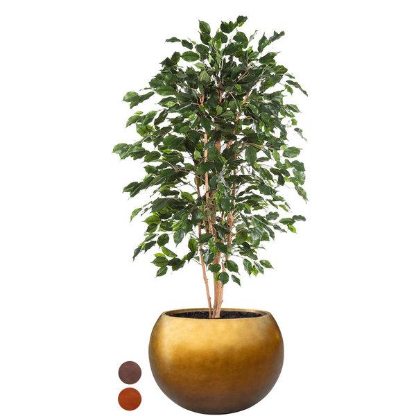 Ficus Exotica kunstplant in pot Metallic Globe