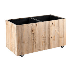 Fleur.nl - Marrone Wood Box Wheels 2-delig