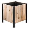 Marrone Wood Box Metal 43 cm (+ inzetbak) - large