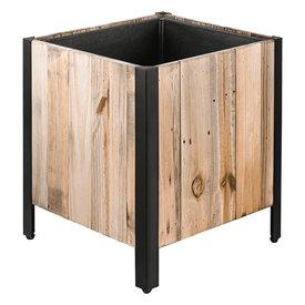 Fleur.nl - Marrone Wood Box Metal 33 cm