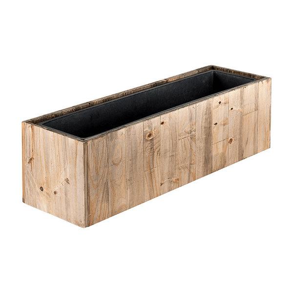 Marrone Wood Box 81 cm (+ inzetbak) - large