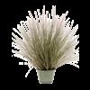 Pennisetum Grass in Zinc pot - kunstplant