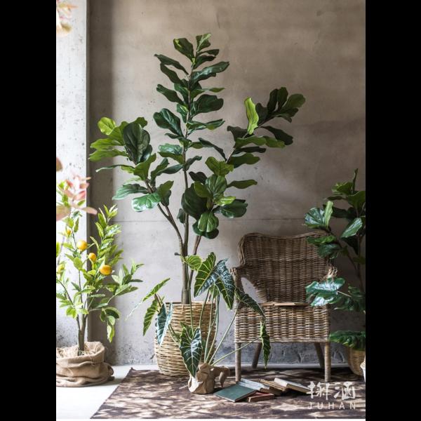 Ficus Lyrata vertakt - kunstplant