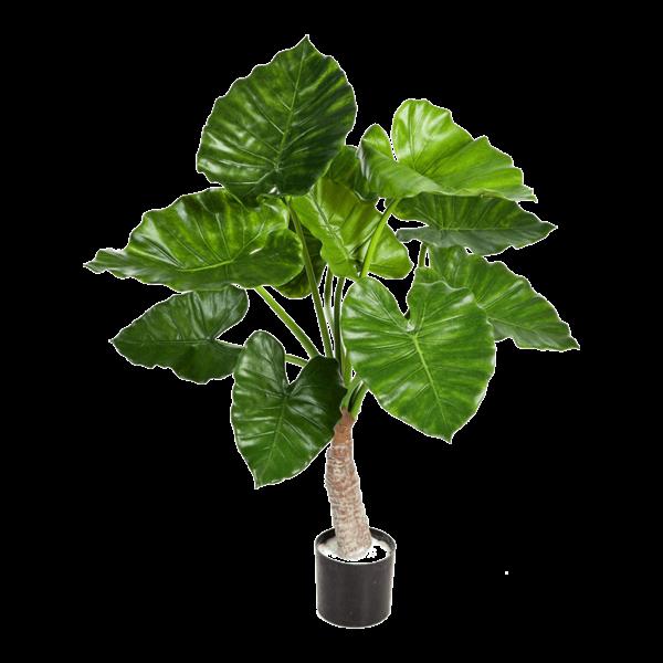 Alocasia Calidora met stammen - kunstplant