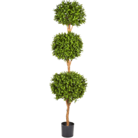 Fleur.nl - Boxwood Triple Ball - kunstplant