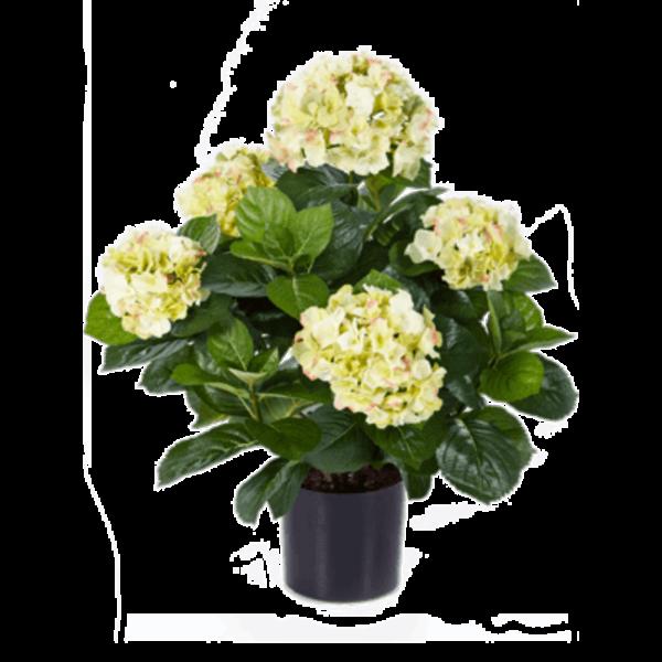 Hydrangea Pot White - kunstplant