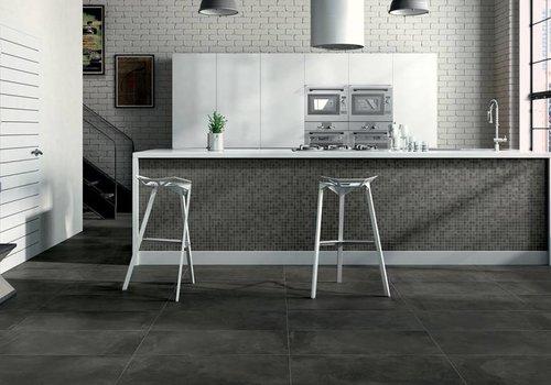 Castelvetro vloertegel FUSION Antracite 60x60 cm Rett.