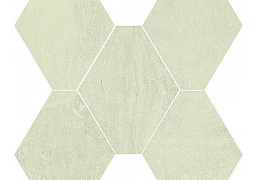 Castelvetro vloertegel ABSOLUTE Esagona Bianco 40x35 cm