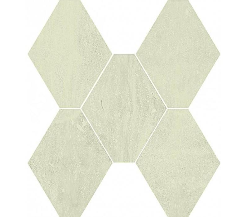 vloertegel ABSOLUTE Esagona Bianco 40x35 cm