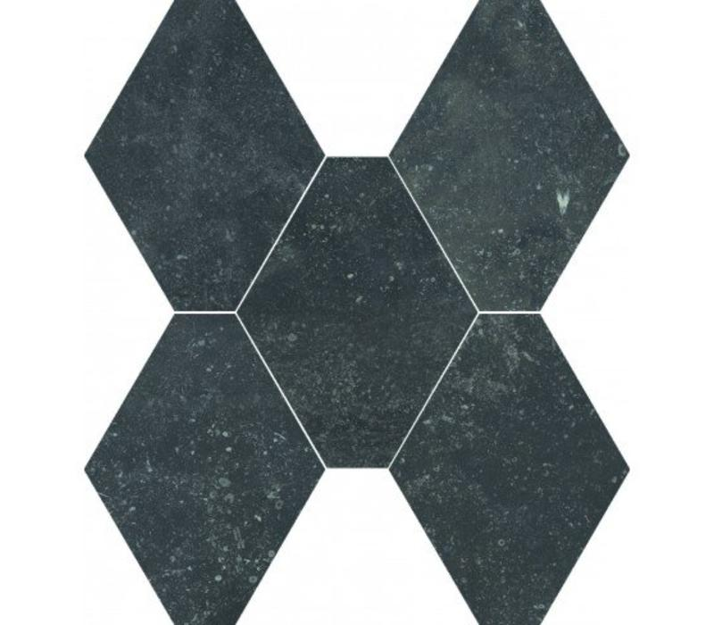 vloertegel ABSOLUTE Esagona Nero 40x35 cm