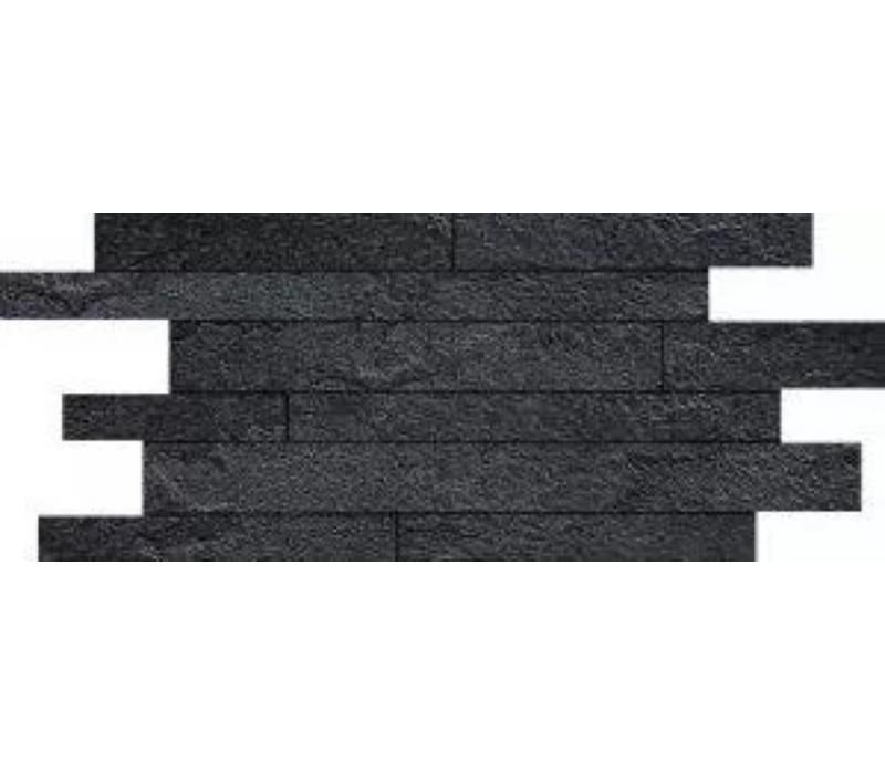 Muretto MINERAL CHROM Black Composizione A 30x60 cm - Naturale