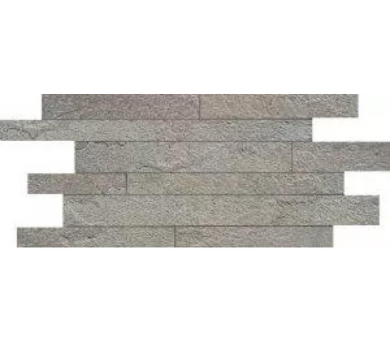 Muretto MINERAL CHROM Grey Composizione A 30x60 cm - Naturale