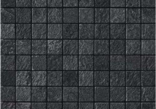 Casalgrande Padana Mozaïek MINERAL CHROM Black 3x3 - Naturale