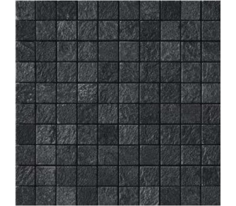 Mozaïek MINERAL CHROM Black 3x3 - Naturale