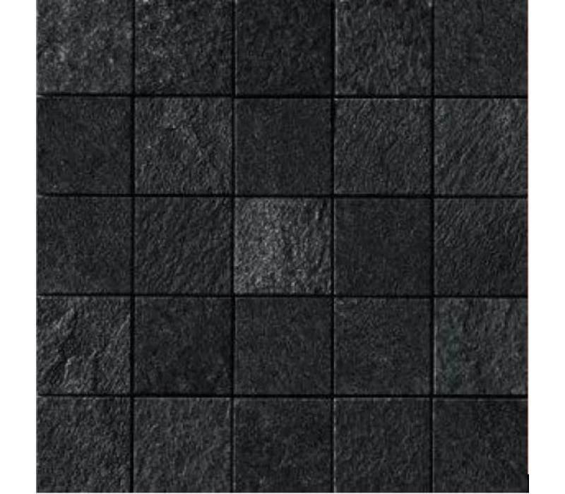 Mozaïek MINERAL CHROM Black 6x6 - Naturale
