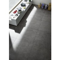 vloertegel XLSTONE Antracite 120x120 cm rett.