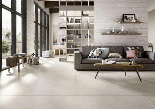 Marazzi vloertegel XLSTONE Bianco 120x120 cm rett.