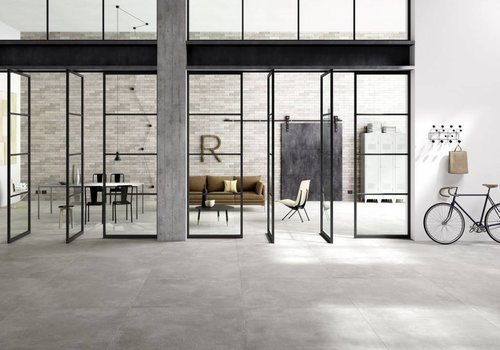 Marazzi vloertegel XLSTREET Grigio 120x120 cm rett.