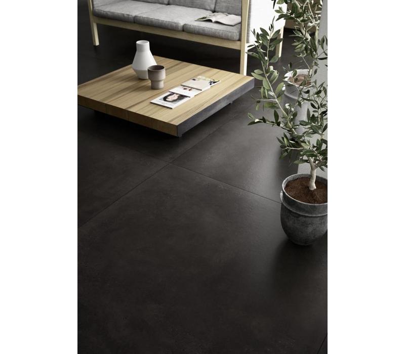 vloertegel XLSTREET Nero 120x120 cm rett.