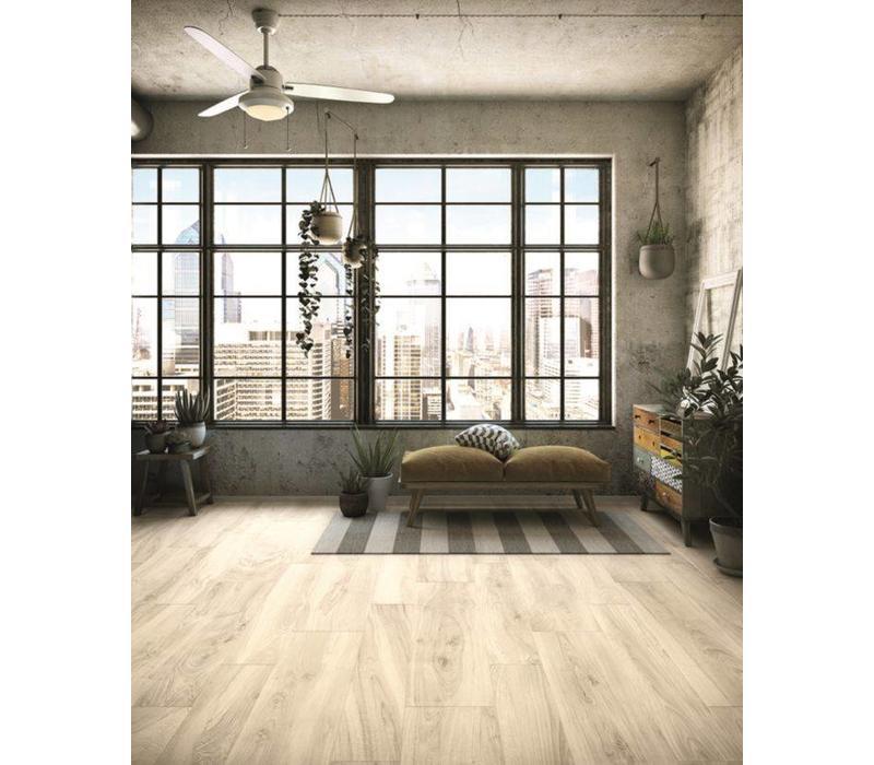 vloertegel MORE Bianco 20x120 cm rett.