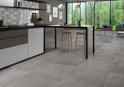 Supergres vloertegel ART Graphite 60x60 cm rett.