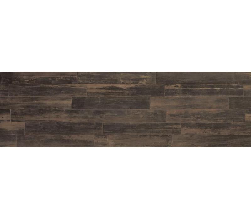 vloertegel REMAKE Brown 29,7x120 cm rett.