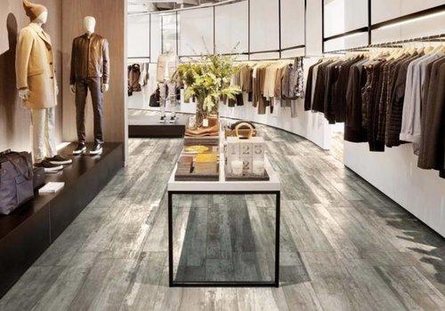 Supergres vloertegel REMAKE Grey 29,7x120 cm rett.
