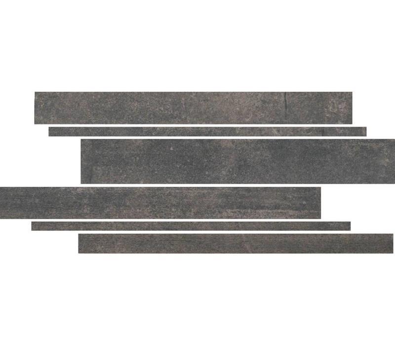 Muretto STRUCTURE Antracite 22x44 cm