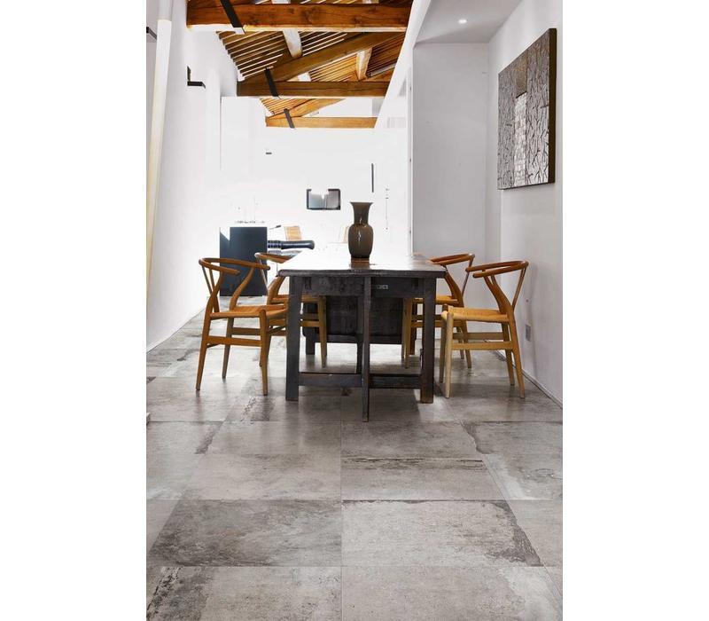 vloertegel LA ROCHE Grey 60x60 cm - Antique matte