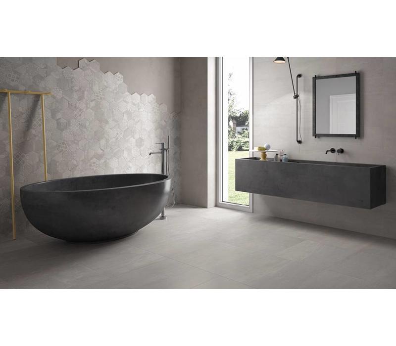 vloertegel GESSO Pearl Grey 40x80 cm