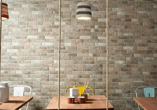 Keraben wandtegel WALL BRICK Old Smoke 30x90 cm