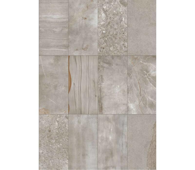 vloertegel JUMBLE Cemento 45x90 cm