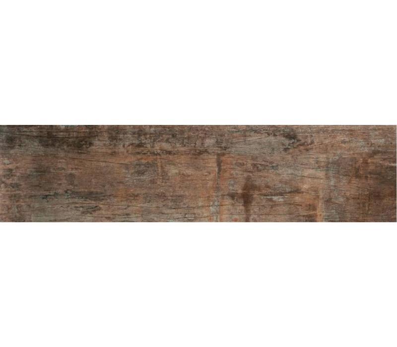 vloertegel CAVA Cognac 29,5x120 cm rett.