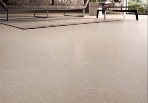 Flaviker vloertegel STILL NO_W Sand 120x120 cm