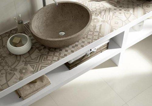 Marazzi vloertegel BLOCK White 60x60 cm rett.