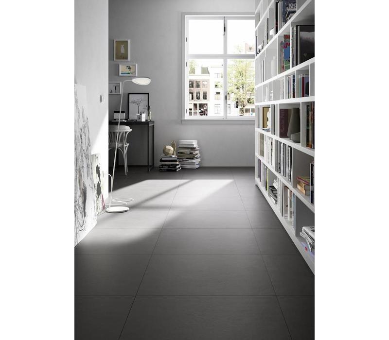 vloertegel BLOCK Black 60x60 cm rett.