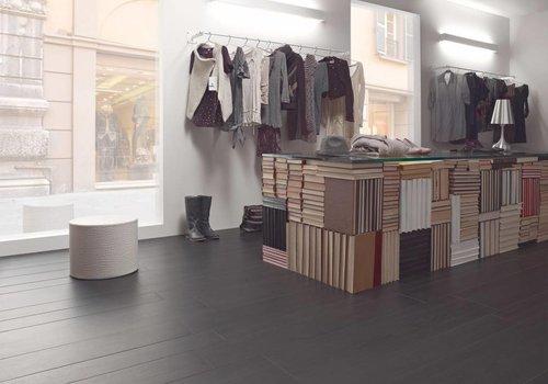 Marazzi vloertegel TREVERK Black 30x120 cm