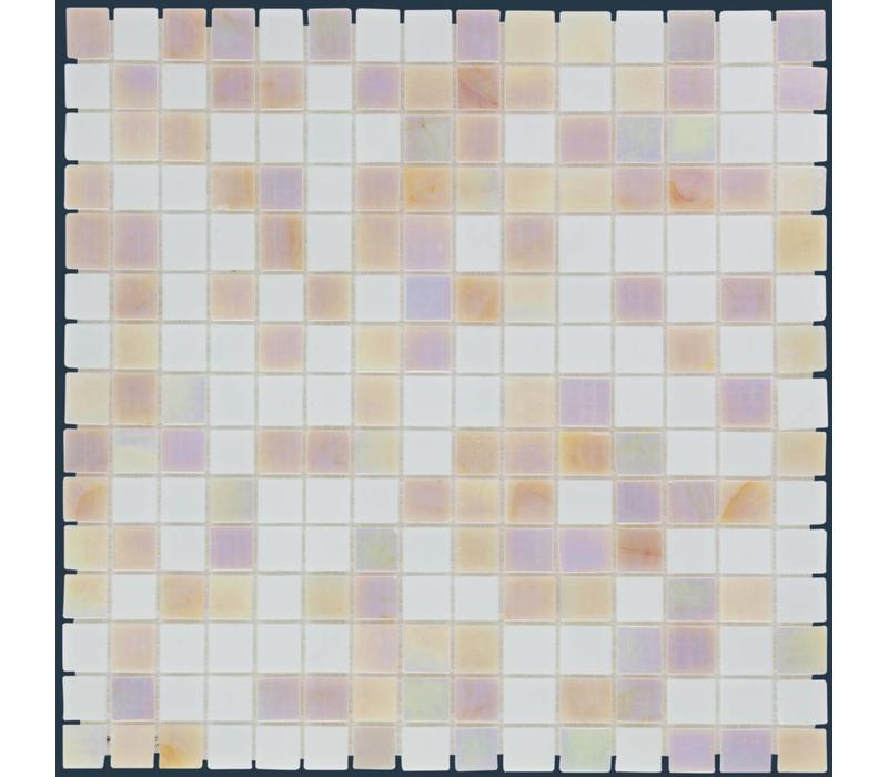 mozaïek AMSTERDAM Mix Pearl White Pink