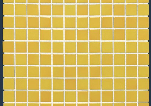 The Mosaic Factory mozaïek BARCELONA Glossy Flamed Yellow 23x23