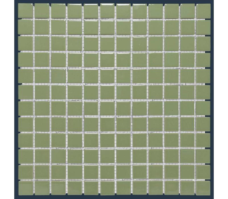mozaïek BARCELONA Glossy Olive Green 23x23