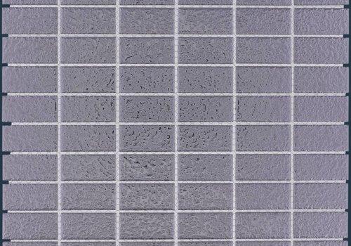 The Mosaic Factory mozaïek BARCELONA Hammered Silver 23x48