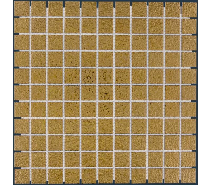mozaïek BARCELONA Hammered Gold 25x25
