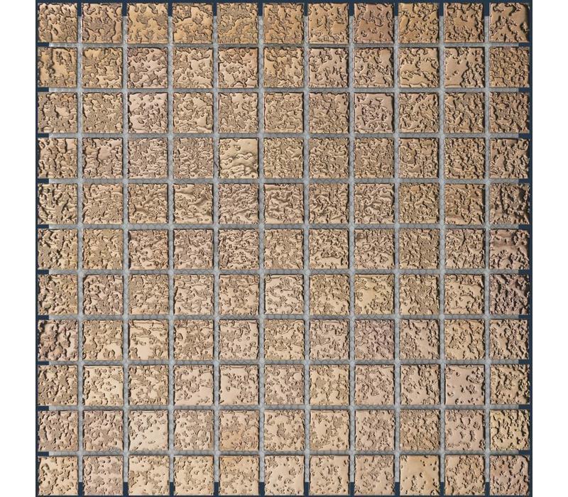 mozaïek BARCELONA Hammered Rose Gold 25x25
