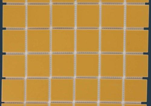 The Mosaic Factory mozaïek BARCELONA Glossy Mustard 48x48