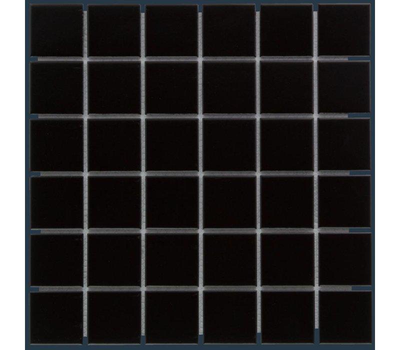 mozaïek BARCELONA Matt Black 48x48