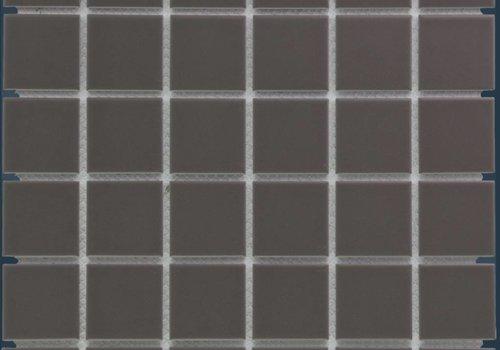 The Mosaic Factory mozaïek BARCELONA Matt Dark Grey 48x48