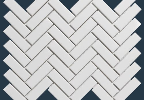 The Mosaic Factory mozaïek PARIS Herringbone Glossy Extra White