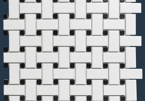 The Mosaic Factory mozaïek PARIS Basket Wave Matt Black / White