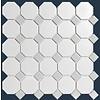 The Mosaic Factory mozaïek PARIS Octagon Matt Grey / White