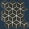 The Mosaic Factory mozaïek PARIS 3D Cubic Glossy Black